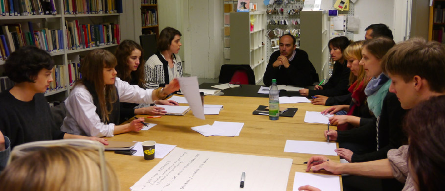 Workshop with Can Altay (TR), Konstfack library, March 2015