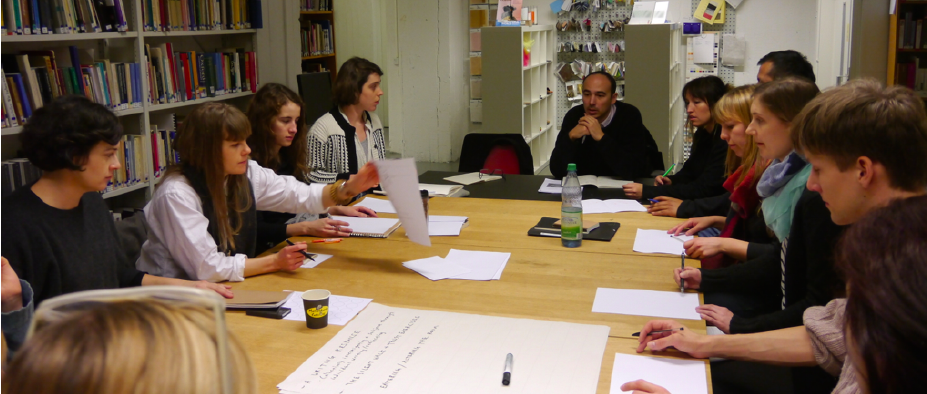 'TOOLBOX FOR SETTING A SETTING (heterotopic ensemble)', workshop with Can Altay (TR), Konstfack library, March 2015