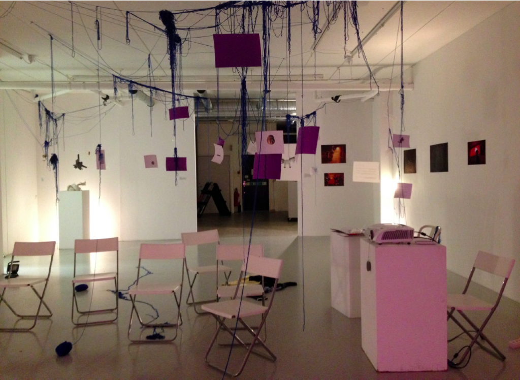 The Museum of Crisis, installation in Wip Konsthall by Nefeli Ikonomou and contributors//