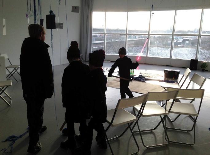 Breaking things workshop in Wip Konsthall