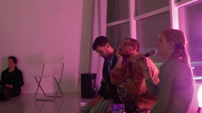 Collective Panic meditation led by Aleksandar Georgiev, Darío Barreto Damas and Nefeli Ikonomou