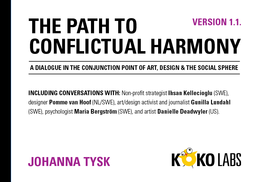 The path to conflictual harmony, publication